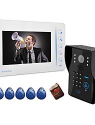 AC220V - 50Гц dc15v2a 7 дюймов визуальный дверной звонок бытовые 807mjids11