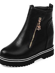 Women's Boots Fall / Winter Fashion Boots / Combat Boots / Round Toe Office & Career / Dress / Casual Platform Zipper