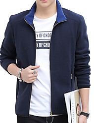 2016 new spring coat collar men size young Korean cultivating short jacket leisure solid tide
