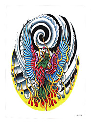 1pc Temporary DIY Tattoo Sticker Women Men Body Arm Art Fire Phoenix Pattern Design Tattoo Fake Decal HB-378