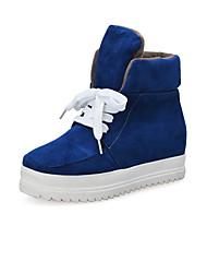 Women's Shoes Customized Materials Winter Flats Boots Dress / Casual Flat Heel Black / Blue / Gray