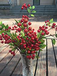 1PC 28 Fruit Decoration Flower Artificial Fruit Paddle Cherry Photo Props Artificial Plant