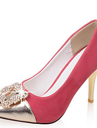 Women's Shoes Stiletto Heel Pointed Toe Color Contrast Rhinestones Pump More Color Available