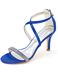 Women's Heels Spring / Summer / Fall Heels / Sandals / Open Toe Satin Wedding / Party & Evening / Casual