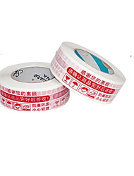 Warnings Tape 8 Package Mail 4.5 Cm thick 2.5 Cm Wide Packing Tape (8 A Box)