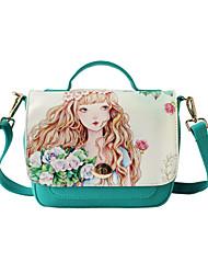 Flower Princess® Women Canvas Shoulder Bag Green-1504X001