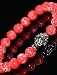 Bracelet Bracelets de rive Gemme Forme de Cercle Mode Bijoux Cadeau Vert clair / Rouge / Violet,1pc
