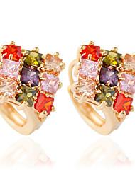 1 pair/Red/White/MulticolorStud Earrings