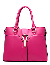 Women Cowhide Formal / Event/Party / Office & Career Tote Multi-color