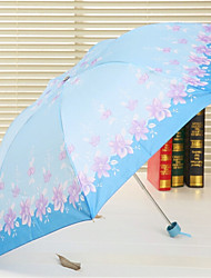 7K Rod Upgrade Color Three Korea Fashion Flower Folding Portable Short Umbrella Folding Umbrella