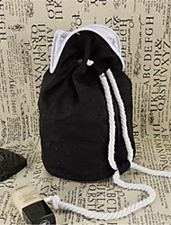 Black Canvas Bag Barrel Drawstring Bag Cosmetic Bag Canvas Bag Can Be Hand Wash Bag