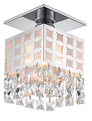 Modern Crystal Ceiling Light Stainless Flush Mount 1 Lights Living Room, Hallway, Bedroom Entry light Fixture
