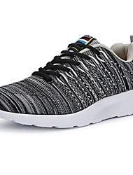 Herren-Sneaker-Sportlich-Stoff-Keilabsatz-Komfort-Schwarz Blau Grau