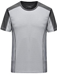 Running Tops Men's Short Sleeve Comfortable / Sunscreen Cotton / Chinlon Running Sports Sports Wear Stretchy SlimOutdoor