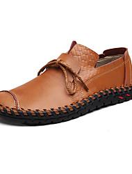 Черный Коричневый Желтый-Мужской-Повседневный-Кожа-На плоской подошве-Удобная обувь-Мокасины и Свитер