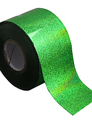 Nail Transfer Foil Holographic Green Design Foil Roll Star Paper Fashion Nail Art Decoration