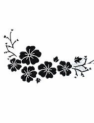 Hibiscus Flowers Car Stickers, Personalized Decorative Cover