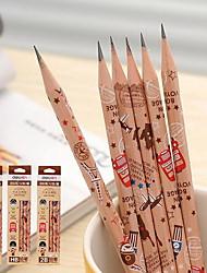 log estudantes lápis HB, 2 horas e 2 b lápis de madeira