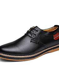 Men's Shoes Office & Career / Casual Leather Oxfords Black / Blue / Brown /