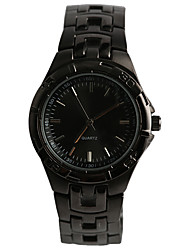Men's Fashion Watch Water Resistant / Water Proof Quartz Alloy Band Casual Black