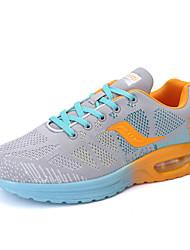 Femme-Décontracté-Vert / Gris / Orange-Talon Plat-Confort-Sneakers-Tulle