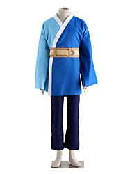 Inspiré par Naruto Mitsuki Anime Costumes de cosplay Costumes Cosplay Couleur Pleine Blanc / Bleu / Beige Manche LonguesVeste Kimono /