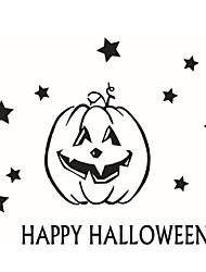 Wall Art Home Decoration Removable Wall Stickers Halloween Big Pumpkin With Stars Decorative Window Films For Home