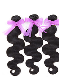 "10-26 inch 100% RAW Virgin Brazilian Remy Human Hair Extensions Wavy Weave Weft Bundle #1B (8"")3 bundles"