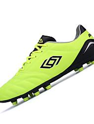 Men's Athletic Shoes Spring / Fall Comfort PU Athletic Flat Heel  Blue / Yellow / Orange Soccer