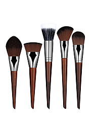 5pcs Foundation Blending Brush Kabuki Makeup Set Tool Cosmetics Brushes