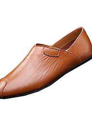 Masculino-Mocassins e Slip-Ons-Conforto-Rasteiro--Pele-Casual