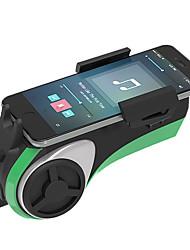 multifonction vélo lecteur bluetooth audio / moto avec éclairage, cloche, banque de puissance, lecteur mp3, mains libres, lecteur de carte