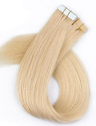 40Pcs/Pack Cutile Tape/PU/Skin Hair Extension Blonde Color Brazilian Hair With Cutile 2.5g Per Strand