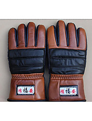 The Wind and Rain in Winter Cotton Gloves Thickened PU Leather Motorcycle Riding Gloves
