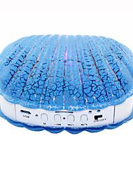 B-08 BT V2.0 Shell Wireless Bluetooth Mini Speaker w/ TF, USB 2.0 LED Ligth - Blue + White