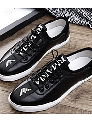 Men's Sneakers Spring / Fall Closed Toe Cowhide Outdoor / Casual Flat Heel Lace-up Black / Gray Sneaker