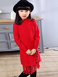 Girl's Casual/Daily Print Dress / Sweater & Cardigan,Others Spring / Fall Black / Pink / Red / Gray