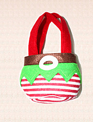 1pc Christmas Candy Bag Festive Party Supplies Green Elf without Boot Sack Decoration