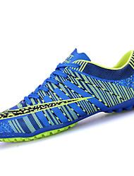 Hombre-Tacón Plano-Confort-Zapatillas de Atletismo-Casual / Deporte-PU-Negro / Azul / Naranja
