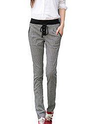 Women's Houndstooth Black Chinos Pants,Street chic