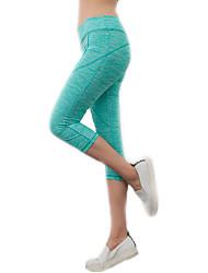 Femme Couleur Pleine A Motifs Legging,Spandex