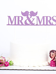 1 PC Cake Toppers MultiColor Mr&Mrs Birthday Party Holiday
