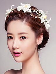 à beira-mar bela rosa grinaldas de flores cabeça para a senhora festa de casamento o cabelo do feriado de jóias