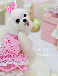 Dog Dress Pink / Yellow Winter / Spring/Fall Solid Casual/Daily Dog Clothes / Dog Clothing-Other