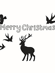 Wall Stickers Wall Decals Style Christmas Elk PVC Wall Stickers