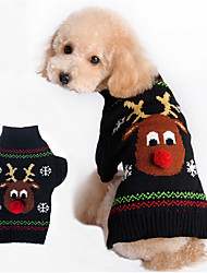 Dog Sweater Black Winter Christmas Keep Warm, Dog Clothes / Dog Clothing