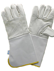 Leather Double Canvas Sleeve Welding Gloves