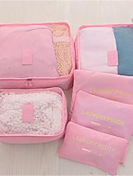 laver sac contenant six ensembles de sac de finition