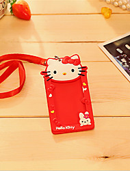 Card Sets Cartoon Keychain Card Clip Card Lanyard Small Slim Cute Bag
