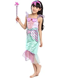 Costumes Mermaid Tail Halloween / Carnival / Oktoberfest Purple / Green Vintage Terylene Dress / Headwear